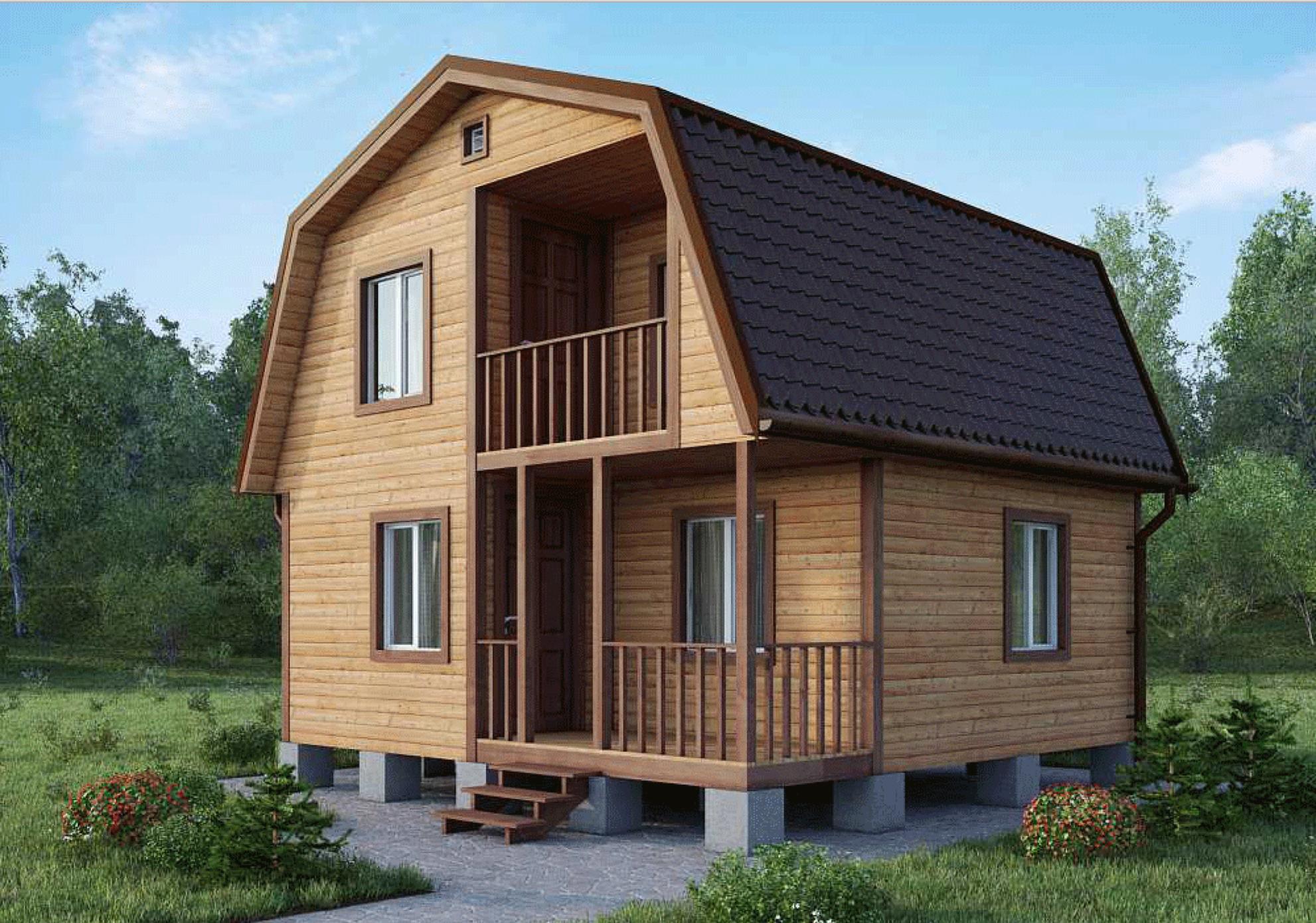 Щитовые дома с балконом.